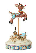 Enesco Jim Shore Rudolph Traditions Leaping Rudolph With Bells Nib 6006792