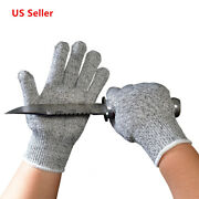 Cut Resistant Gloves Food Grade Level 5 Protection, Safety Mittens Work Gloves