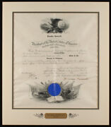 Theodore Roosevelt Signed 19x22 Custom Matted Military Appointment Document Jsa