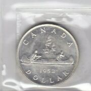 1952 Canada Silver Dollar No Water Lines Graded 63  Beautiful  Free Shipping