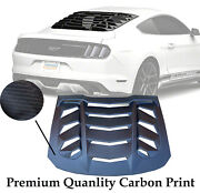 Carbon Print For 15-17 Mustang Rear Window Louver High Quality 2020 New Design