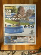 Intex 10 X 30 Easy Set Above Ground Swimming Pool W/ Filter Pump 28121eh