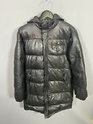 Leather Puffer Quilted Coat - Large - Great Condition - Womenandrsquos