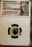 March Of Dimes Set 2015 P Silver Reverse Pf 10 C Ngc Pf 70 Rare Find
