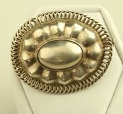 George Jensen Vintage Sterling Silver 155 Flower Pin Brooch Old Style Clasp