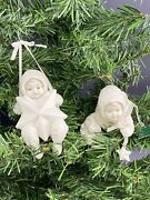 2 Dept 56 Snowbabies Snowbaby Bisque Ornaments Starry Night W Swinging On A Star