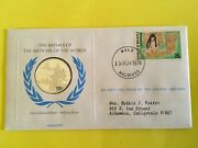 Rare United Nations Proof Sterling Medal And Stamp Cachet Issued11/78 Maldives.