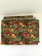 New Longaberger Napa Orchard Fruit Fabric Olive Green Sold By The 1 Yard