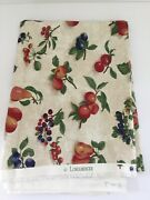 New Longaberger Fruit Medley Fabric Traditional Ivory Sold By The Yard