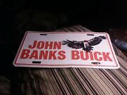 Vintage License Plate Buick Advertising Collectable Novelty John Banks Booster