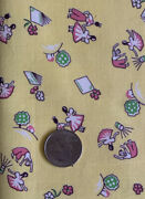 Vtg.30s 40s Cotton Childrenand039s Juvenile Novelty Jack And Jill Fabric- 36andrdquow 22andrdquol