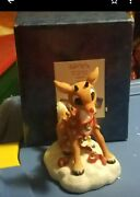 Enesco Rudolph The Red Nosed Reindeer W/lighted Nose Figurine Lights Up Used