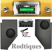 1947-1953 Chevy Truck Radio And Kick Panels W/ Speakers Aux Cable Stereo 230