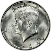 10 1964 Roll Kennedy Half Dollars Brilliant Uncirculated 90 Silver Beautyand039s