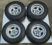 Rare Vtg. Et 14andtimes7.5 Slotted Mags With Pirelli Sempione 70 Tires Time Capsule