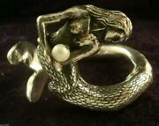 Gomez Taxco Mexican 950 Sterling Silver Pearl Mermaid Bracelet Mexico
