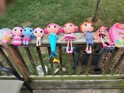 Lalaloopsy Lot Of 6 Dolls And Accesories And Backpack All Used Nice Lot