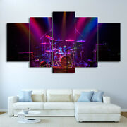 Awesome Purple Drums Poster Drum Set Wall Art Music Home Decor 5pcs Canvas Print