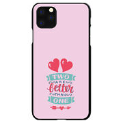 Hard Case Cover For Apple Iphone Pick Model Hearts - Two Are Better Than One