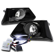 For 19-20 Altima Sedan Bumper Driving Fog Lights Lamp Chrome W/10000k Hid+switch