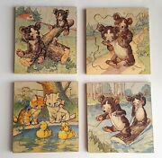 Antique Wooden Childrens Jigsaw Puzzles Women's Education And Industrial Union