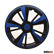 16and039and039 Hubcaps Wheel Rim Cover Black With Dark Blue Insert 4pcs Set For Mazda