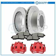 Rear Brake Rotors Calipers And Ceramic Pads For 1999 Ford F-250 F-350 Super Duty
