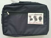 Blank Slate Mens Black Hybrid Briefcase Converts To Backpack Fits 11-15.6 Laptop