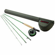 Redington Vice 8 Line Weight 9 Foot 4 Piece Fly Fishing Rod Reel Comboopen Box