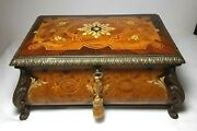 Vintage Reuge Cartel Music Box Hungarian Rhapsody 3 Parts Marquetry Case 3/72