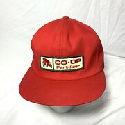 Vintage Co-op Fertilizer Hat Cap Red Snapback K Products Made In Usa Tractor