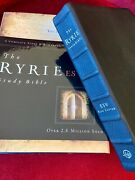 Rare The Ryrie Esv Study Bible Black Premium Calfskin Leather Red Letter Indexed