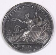 Antique 1845 American Institute New York Silver Medal Longbotham And Co. Rare 2d
