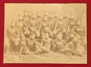 Antique Class Of 1900 Circa 1896 Yale University Football Team Photo Early Old