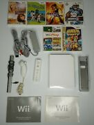 Wii Console Bundle Remote, Nunchuck, 6 Games, Wii Stand , And Manuals