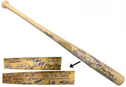1999 Ny Yankees Signed Cooperstown Team Century/world Series Bat 24 Sigs- Goldin