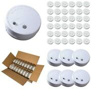 Smoke Alarm Detector Ionization Sensor Battery Operated Home Fire Safety 1-36pcs