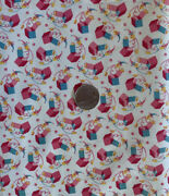 Vtg.30s 40s Cotton Childrenand039s Juvenile Novelty Jack In Boxes Fabric-35.5andrdquow 31andrdquol