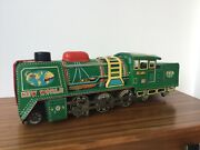 New World Vintage Friction Tin Toy Locomotive Made In Japan
