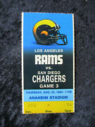 Vintage August 23 Rams Vs Chargers Pre Season Ticket Stub W/dickerson T792