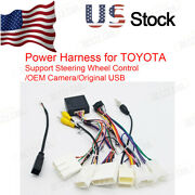 Toyota Car Stereo Radio Power Harness Cable Wire Usb Oem Camera Adapter Can Bus