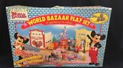 Tomy Disney World Bazaar Play Set Vintage Retro Toy With Box From Japan Novelty