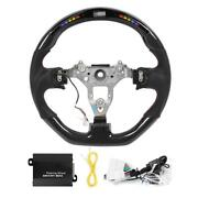 Led Performance Race Display Steering Wheel Preforated Leather W/ Red Stitching
