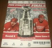 🎫2008 Stanley Cup Finals Game 2 Tix Ticket Stub Red Wings Vs Crosby Penguins🏒