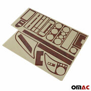 Fits Bmw 3 Series E36 1991-1997 Wooden Look Dashboard Console Trim Kit 20 Pcs