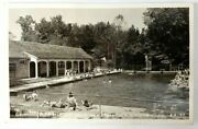 Mccormickand039s Creek State Park Swimming Pool Spencer Indiana 1950 Photo Postcard