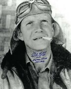 David Andldquotexandrdquo Hill Signed Wwll Flying Tigers Ace Pilot 8x10 Photo Imperfect- Psa