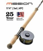 Mission Two-handed 3-weight 11and0394 Fly Rod   Made In The Usa 25 Year Warranty