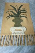 Large Jute Tapestry Wall Hanging 30 X 40 Free Fast Shipping