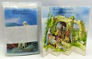 Nos 1970's Pop Up Christmas Nativity Scene Jesus - 12 Cards And 12 Envelopes Italy
